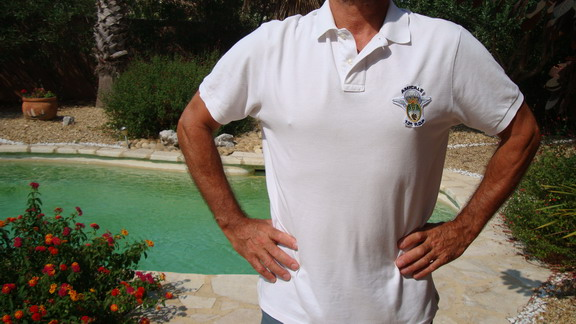 Polo blanc Amicale taille XL