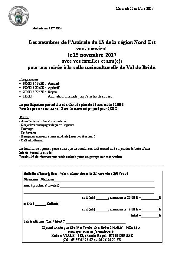 Soirée Beaujolais du Nord-Est