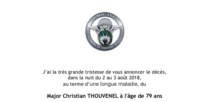 Décès du Major Thouvenel