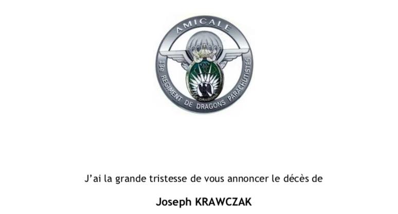 Décès de l'Adc KRAWCZAK