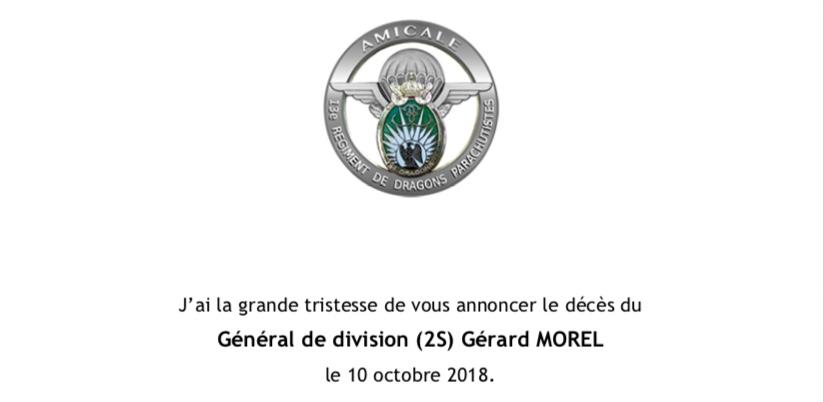 Décès du Général Morel