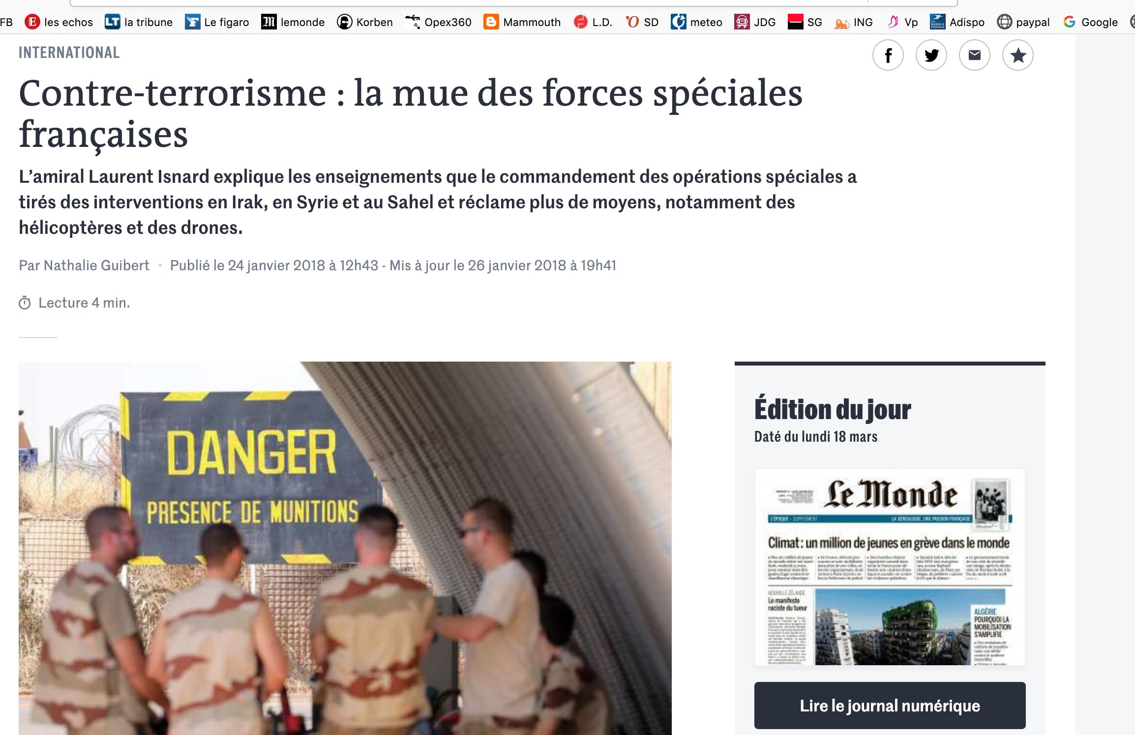 Contre-terrorisme : la mue des forces spéciales françaises :
